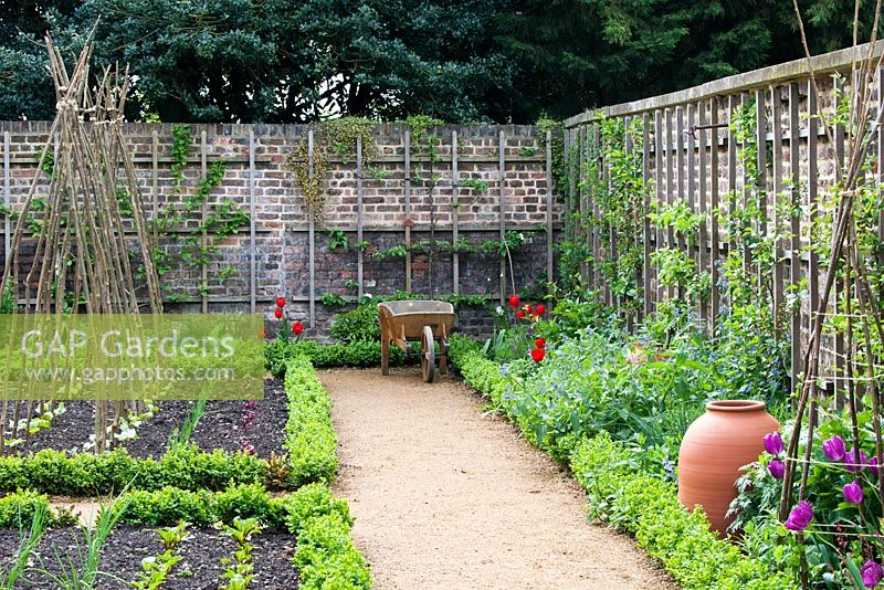 GAP Gardens - Walled Kitchen Garden With Forcing Pots - Late April - Kew Gardens London UK ...