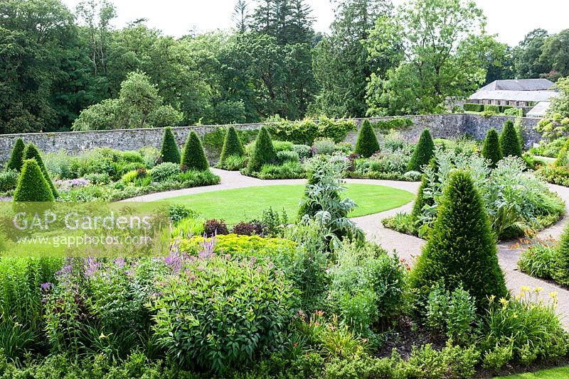gap gardens the upper walled garden design by penelope