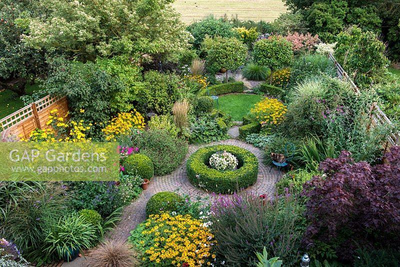 GAP Gardens - An overhead view of a south facing suburban garden ...