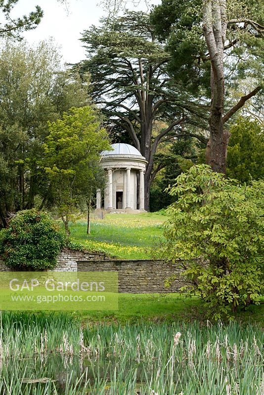 The Temple at Millichope Park, an English landscape garden dating from 18th century.