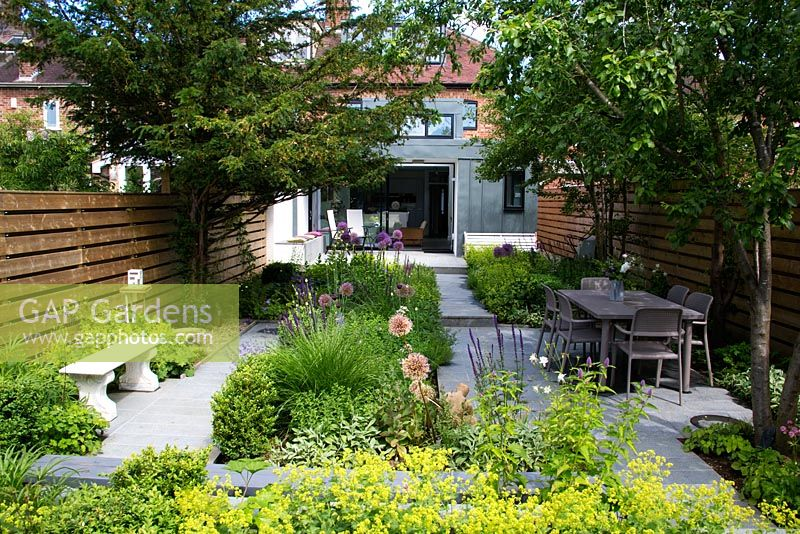 GAP Gardens - Oxford garden. View of the garden to the house ...