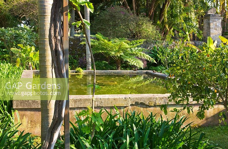 GAP Gardens - A raised reflecting pool created by Rachel Lamb in the ...