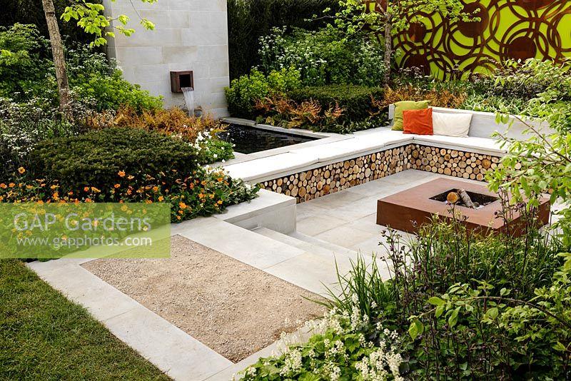 Superb Gap Gardens L Shaped Firewood Storage Bench Seating Dailytribune Chair Design For Home Dailytribuneorg