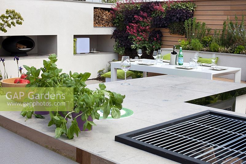 Dining area in the Sociability garden at BBC Gardener's World Live 2015