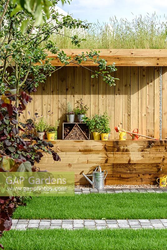 Wooden Shed In Health For Life Community Garden. Best In Show: GOLD. BBC