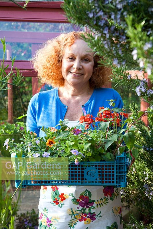 Pattie Barron in her garden