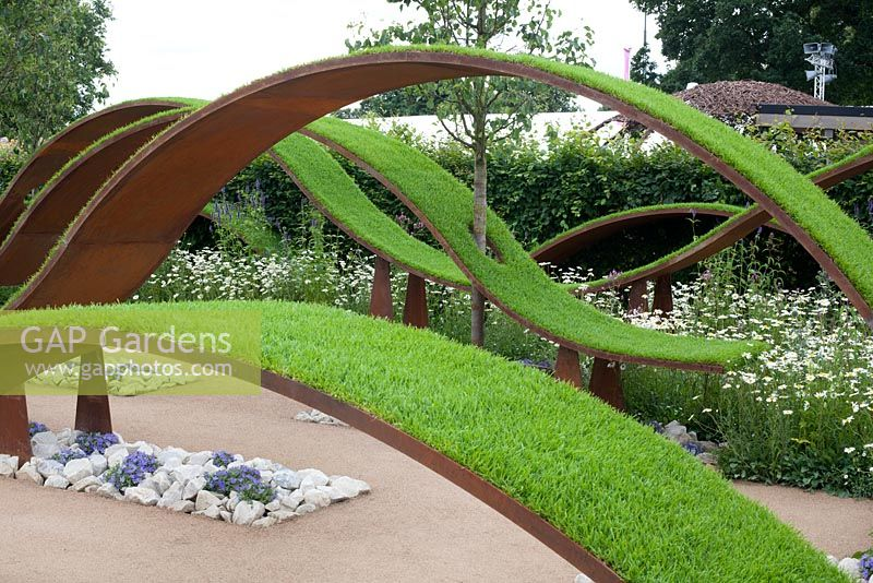 GAP Gardens - Floating waves of turf in The World Vision Garden at ...