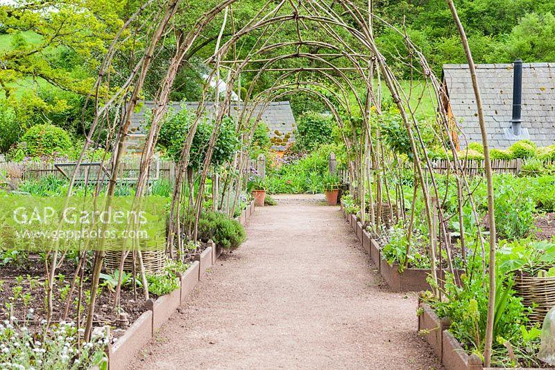 Gap Gardens The Kitchen Garden Allt Y Bela Near Usk