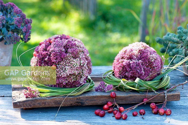 Decorative Spheres Of Blossoms From Sedum