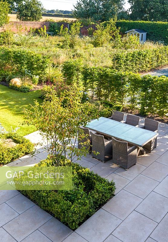 Gap Gardens An Elevated View Of The Newly Contemporary English Garden In Cheshire Designed By
