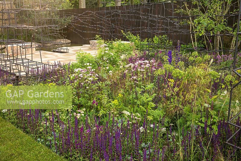 The Breaking Ground garden at the RHS Chelsea Flower Show 2017. Sponsor: Darwin Property Investment Management Ltd. Designers: Andrew Wilson and Gavin
