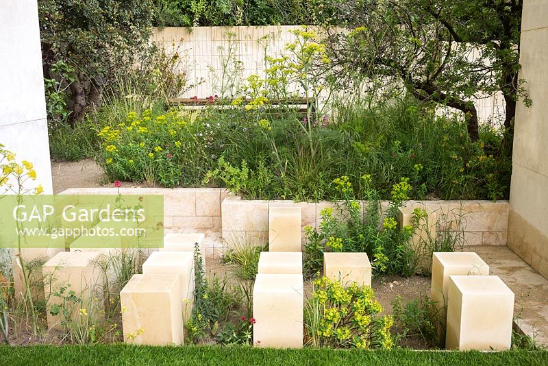 The M and G Garden at the RHS Chelsea Flower Show 2017. Sponsor: M and G Investments. Designer: James Basson. Awarded a Gold Medal and Best Show Garden. Insp