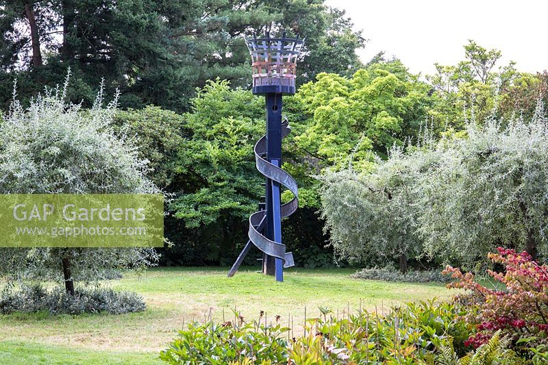 The Compton Beacon on lawn at Newby Hall and Gardens, Yorkshire.