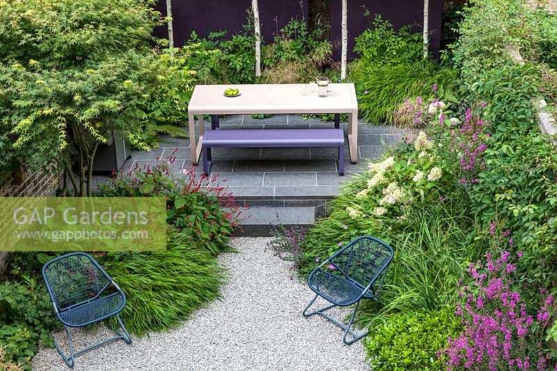 Incredible Gap Gardens Contemporary Garden Table And Bench And A Pair Machost Co Dining Chair Design Ideas Machostcouk