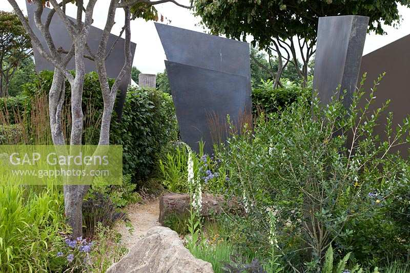 Re-using elements from previous Chelsea Flower Show gardens,  RHS Watch This Space Garden, Hampton Court Palace Flower Show, 2017