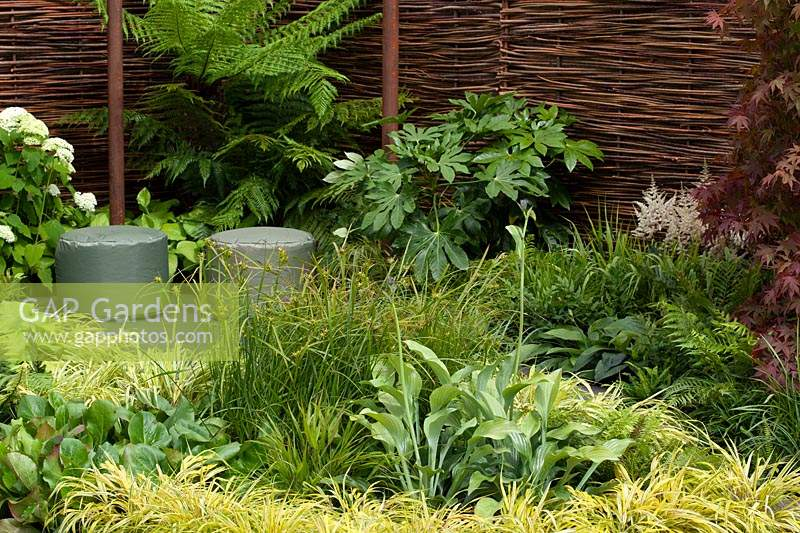 The Green Retreat Garden. RHS Tatton Park Flower Show, 2016.