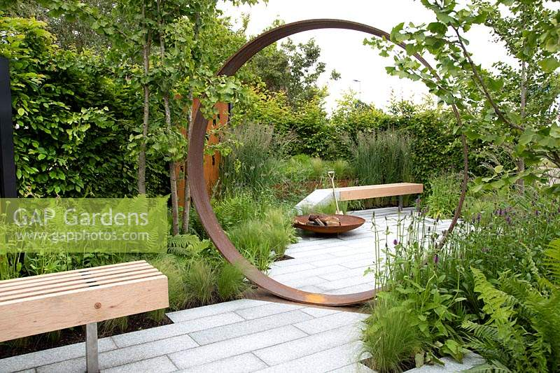 'High Line' garden at BBC Gardeners World Live 2019, based on the High Line Garden in New York
