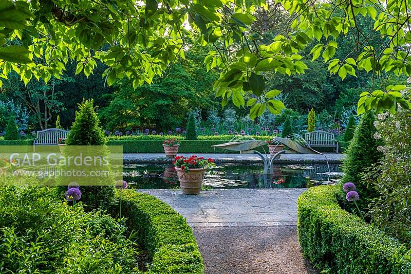 The Italian Garden at Borde Hill, West Sussex, UK