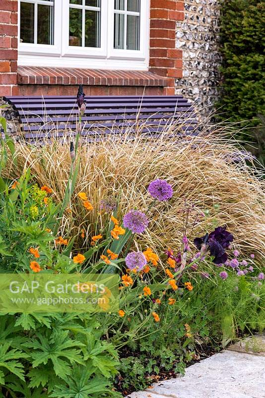 Spring bed planting combination