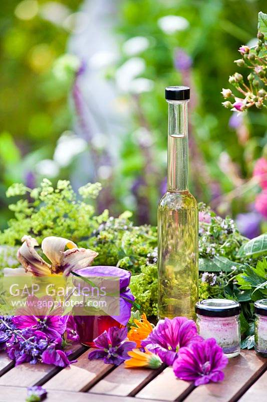 Herb and edible flower products for making homemade herbal remedies
