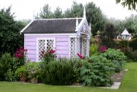 Summerhouse with summer planting at Kettle Hill
