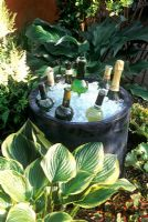 Wine Chiller - bubbling water feature