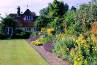 Colourful summer border at Kettle Hill Garden
