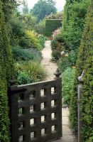 Looking through the gate into the High Garden at Great Dixter