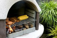 Concrete sectional barbecue