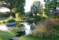 The Damp Garden, Beth Chatto in early evening sunlight