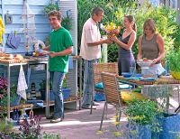Garden party - Outdoor kitchen unit with barbecue