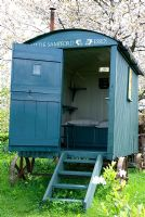 Restored shepherds hut