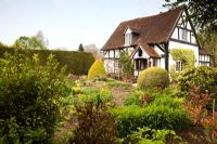 The garden at Eastgrove Cottage in Worcestershire in April