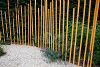 Bamboo canes used as path edging - Festival Internationale des Jardins Chaumont sur Loire 2010