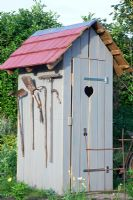 Painted tool shed