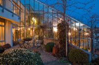 Sub-tropical conservatory at night - Wintergarten, Germany