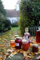 Some of Fionas jams and jellies - The Cottage Smallholder, Suffolk, UK