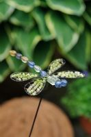 Dragonfly garden ornament - The Rowans, Threapwood, Cheshire