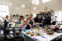 Students at work in the classroom at Ballymaloe Cookery school