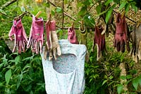 Washing garden gloves