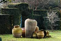 Pots near the New Indian Gateway, Highgrove Garden, December 2007.