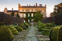 The House and Thyme Walk, Highgrove Garden, December 2007.  The House was built between 1796 and 1798 in a Georgian neo-classical design.