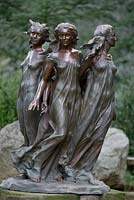 The Daughters of Odessa bronze sculpture in the The Arboretum, Highgrove Garden, August 2007.