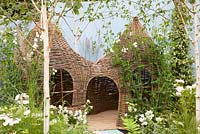 Play house made from willow