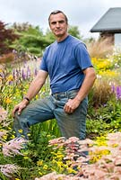 Keith Wiley in his garden - Wildside garden