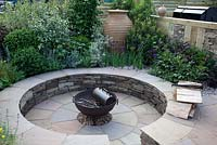 Circular patio - 'The Inside Out Garden' Designed by Daniel Gee, BBC Gardener's World 2012