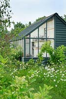 Back to back lean to greenhouse, with garden shed behind - The Mill House, Little Sampford, Essex