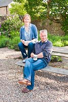 Natasha and Alex McEwen, creators of the garden at Fowberry Mains Farmhouse, Wooler, Northumberland, UK