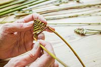 Weaving fish head shape out of Willow