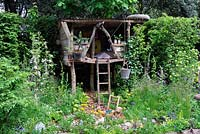 NSPCC garden of magical childhood, showing tree house